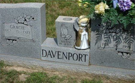 DAVENPORT, GRACIE - Cannon County, Tennessee | GRACIE DAVENPORT - Tennessee Gravestone Photos