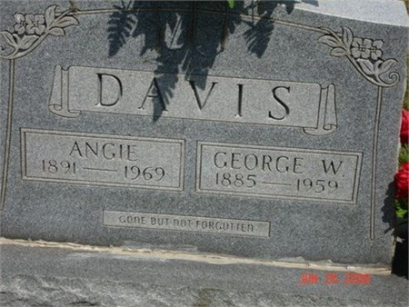 MANUS DAVIS, ANGIE - Cannon County, Tennessee | ANGIE MANUS DAVIS - Tennessee Gravestone Photos