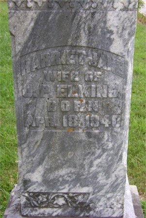 ELKINS, HARRIET JANE - Cannon County, Tennessee | HARRIET JANE ELKINS - Tennessee Gravestone Photos