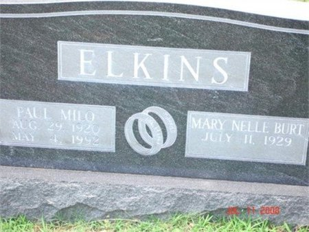 BURT ELKINS, MARY NELLE - Cannon County, Tennessee | MARY NELLE BURT ELKINS - Tennessee Gravestone Photos