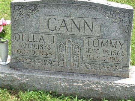 THOMAS GANN, DELLA J. - Cannon County, Tennessee | DELLA J. THOMAS GANN - Tennessee Gravestone Photos