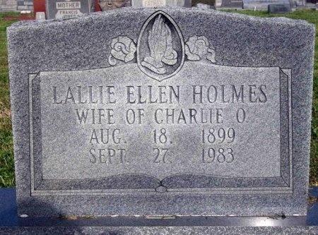 HOLMES, LALLIE ELLEN - Carroll County, Tennessee   LALLIE ELLEN HOLMES - Tennessee Gravestone Photos
