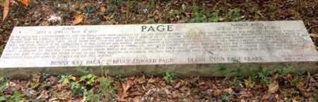 PAGE, NANCY - Carroll County, Tennessee | NANCY PAGE - Tennessee Gravestone Photos