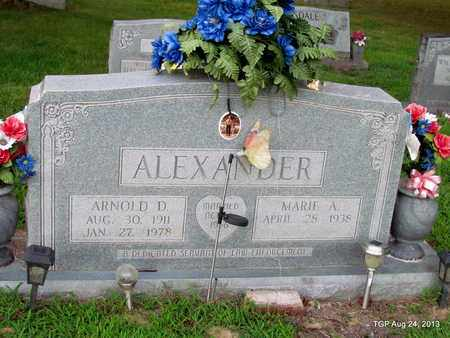 ALEXANDER, ARNOLD D. - Cheatham County, Tennessee   ARNOLD D. ALEXANDER - Tennessee Gravestone Photos