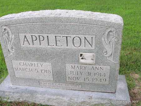 APPLETON, CHARLEY - Cheatham County, Tennessee | CHARLEY APPLETON - Tennessee Gravestone Photos