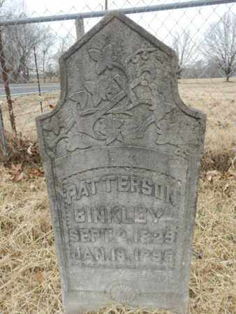 BINKLEY, PATTERSON - Cheatham County, Tennessee | PATTERSON BINKLEY - Tennessee Gravestone Photos