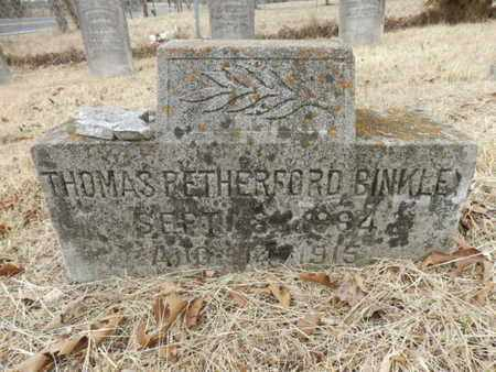 BINKLEY, THOMAS RETHERFORD - Cheatham County, Tennessee | THOMAS RETHERFORD BINKLEY - Tennessee Gravestone Photos