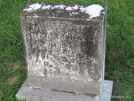 FINCH HAM, ELIZABETH - Cheatham County, Tennessee   ELIZABETH FINCH HAM - Tennessee Gravestone Photos