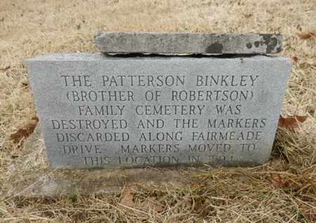 *PATTERSON BINKLEY MEMORIAL,  - Cheatham County, Tennessee |  *PATTERSON BINKLEY MEMORIAL - Tennessee Gravestone Photos