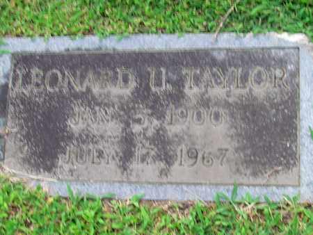 TAYLOR, LEONARD U. - Cheatham County, Tennessee | LEONARD U. TAYLOR - Tennessee Gravestone Photos