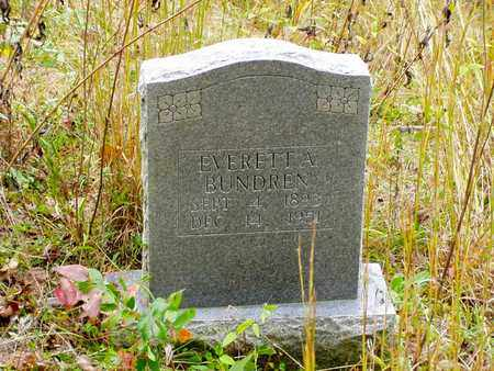 BUNDREN, EVERETTE A. - Claiborne County, Tennessee | EVERETTE A. BUNDREN - Tennessee Gravestone Photos
