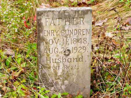 BUNDREN, HENRY - Claiborne County, Tennessee | HENRY BUNDREN - Tennessee Gravestone Photos