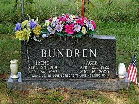 BUNDREN, IRENE - Claiborne County, Tennessee | IRENE BUNDREN - Tennessee Gravestone Photos