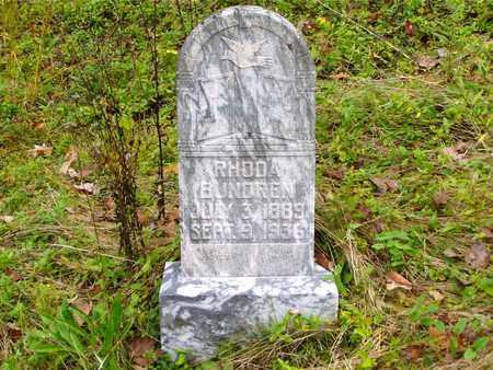 BUNDREN, RHODA - Claiborne County, Tennessee | RHODA BUNDREN - Tennessee Gravestone Photos