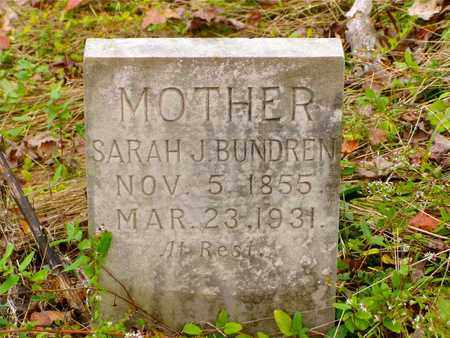 BUNDREN, SARAH J. - Claiborne County, Tennessee | SARAH J. BUNDREN - Tennessee Gravestone Photos