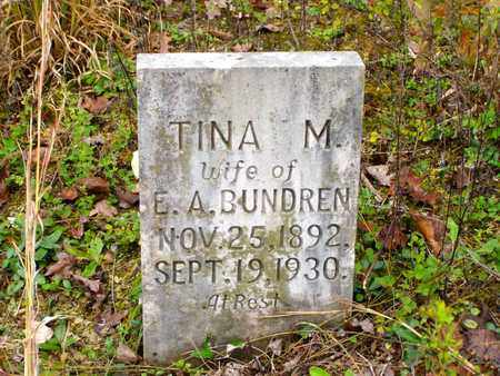 SAMSEL BUNDREN, TINA MARTHA - Claiborne County, Tennessee | TINA MARTHA SAMSEL BUNDREN - Tennessee Gravestone Photos