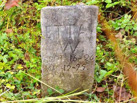 WALLER, SARAH ETTA - Claiborne County, Tennessee   SARAH ETTA WALLER - Tennessee Gravestone Photos