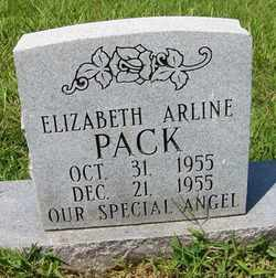 PACK, ELIZABETH ARLINE - Coffee County, Tennessee | ELIZABETH ARLINE PACK - Tennessee Gravestone Photos