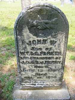 PARKER, JOHN  WILLIAM - Coffee County, Tennessee | JOHN  WILLIAM PARKER - Tennessee Gravestone Photos
