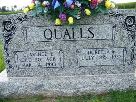 QUALLS, CLARENCE EDWIN - Coffee County, Tennessee | CLARENCE EDWIN QUALLS - Tennessee Gravestone Photos