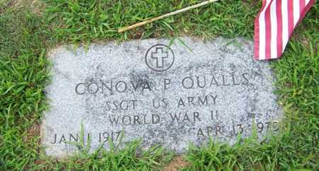 QUALLS  (VETERAN WWII), CONOVA P - Coffee County, Tennessee | CONOVA P QUALLS  (VETERAN WWII) - Tennessee Gravestone Photos