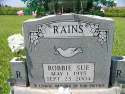 RAINS, ROBBIE SUE - Coffee County, Tennessee | ROBBIE SUE RAINS - Tennessee Gravestone Photos