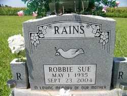 SWEETON RAINS, ROBBIE SUE - Coffee County, Tennessee | ROBBIE SUE SWEETON RAINS - Tennessee Gravestone Photos