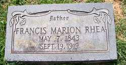 RHEA, FRANCIS MARION - Coffee County, Tennessee | FRANCIS MARION RHEA - Tennessee Gravestone Photos