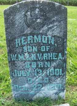 RHEA, HERMON - Coffee County, Tennessee | HERMON RHEA - Tennessee Gravestone Photos
