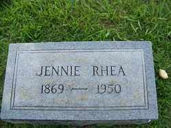 LUSK RHEA, JENNIE ELIZABETH - Coffee County, Tennessee | JENNIE ELIZABETH LUSK RHEA - Tennessee Gravestone Photos