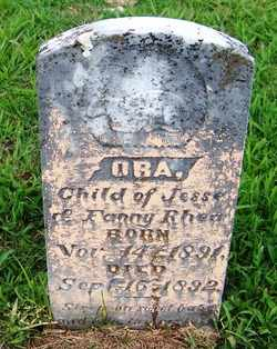 RHEA, ORA - Coffee County, Tennessee | ORA RHEA - Tennessee Gravestone Photos