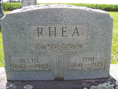 "FLETCHER RHEA, ELIZABETH ""BETTIE"" - Coffee County, Tennessee 