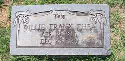 RHEA, WILLIE FRANK - Coffee County, Tennessee | WILLIE FRANK RHEA - Tennessee Gravestone Photos