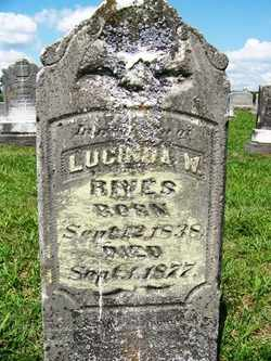 THOMAS RIVES, LUCINDA W. - Coffee County, Tennessee | LUCINDA W. THOMAS RIVES - Tennessee Gravestone Photos