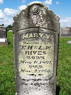 RIVES, MARY V. - Coffee County, Tennessee | MARY V. RIVES - Tennessee Gravestone Photos