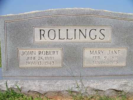 JONES ROLLINGS, MARY JANE - Coffee County, Tennessee | MARY JANE JONES ROLLINGS - Tennessee Gravestone Photos