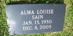 GILBERT SAIN, ALMA LOUISE - Coffee County, Tennessee | ALMA LOUISE GILBERT SAIN - Tennessee Gravestone Photos