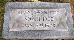 SAIN, ALVIN GWYN - Coffee County, Tennessee | ALVIN GWYN SAIN - Tennessee Gravestone Photos