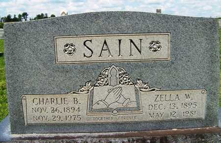 SAIN, CHARLIE BLAIR - Coffee County, Tennessee | CHARLIE BLAIR SAIN - Tennessee Gravestone Photos