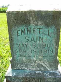SAIN, EMMET L. - Coffee County, Tennessee | EMMET L. SAIN - Tennessee Gravestone Photos