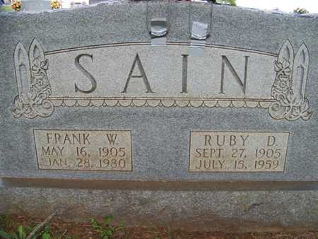 RAMSEY SAIN, RUBY DEAN - Coffee County, Tennessee | RUBY DEAN RAMSEY SAIN - Tennessee Gravestone Photos