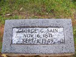 SAIN, GEORGE GWYNN - Coffee County, Tennessee | GEORGE GWYNN SAIN - Tennessee Gravestone Photos
