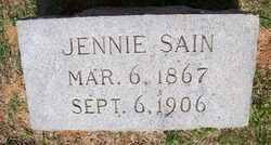 SAIN, JENNIE - Coffee County, Tennessee | JENNIE SAIN - Tennessee Gravestone Photos