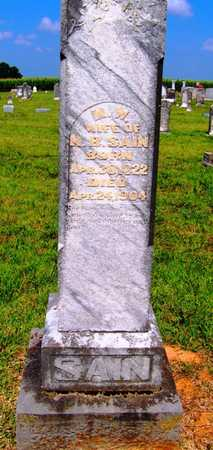 SANFORD SAIN, MARTHA W. - Coffee County, Tennessee | MARTHA W. SANFORD SAIN - Tennessee Gravestone Photos