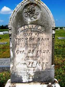 ADAMS SAIN, MARY A. - Coffee County, Tennessee | MARY A. ADAMS SAIN - Tennessee Gravestone Photos