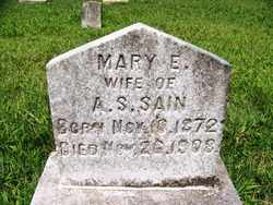 PURCELL SAIN, MARY E. - Coffee County, Tennessee | MARY E. PURCELL SAIN - Tennessee Gravestone Photos