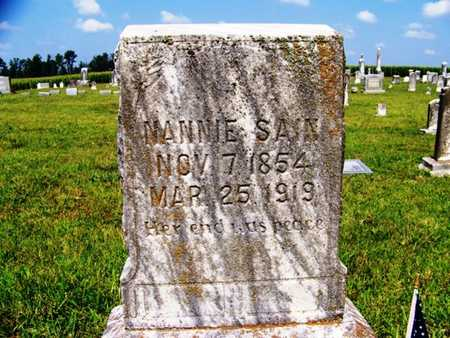 SAIN, NANNIE - Coffee County, Tennessee | NANNIE SAIN - Tennessee Gravestone Photos