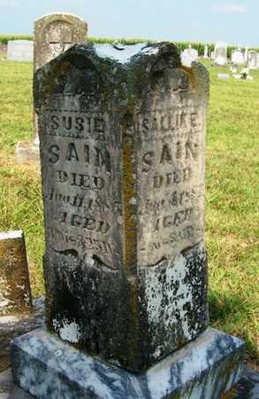 SAIN, SUSIE - Coffee County, Tennessee | SUSIE SAIN - Tennessee Gravestone Photos