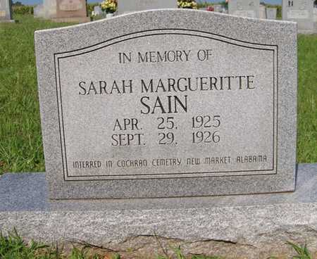 SAIN, SARAH MARGUERITTE - Coffee County, Tennessee | SARAH MARGUERITTE SAIN - Tennessee Gravestone Photos