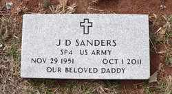 SANDERS  (VETERAN), J. D. - Coffee County, Tennessee | J. D. SANDERS  (VETERAN) - Tennessee Gravestone Photos